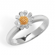 Sterling Silver two tone Daisy ring